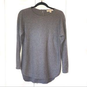 MICHAEL Michael Kors Gray Tunic Sweater, size Sm
